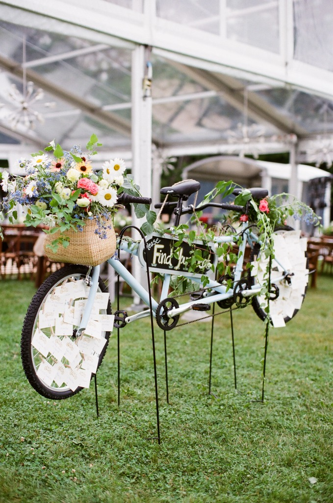 Wedding Flowers on Bicycle