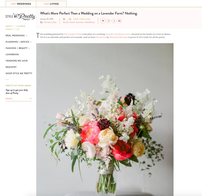 Style me pretty lindsay mike michelle peele im so happy to share that one of my favorite weddings from 2017 lindsay mikes marianmade farm wedding was featured on style me pretty this week mightylinksfo