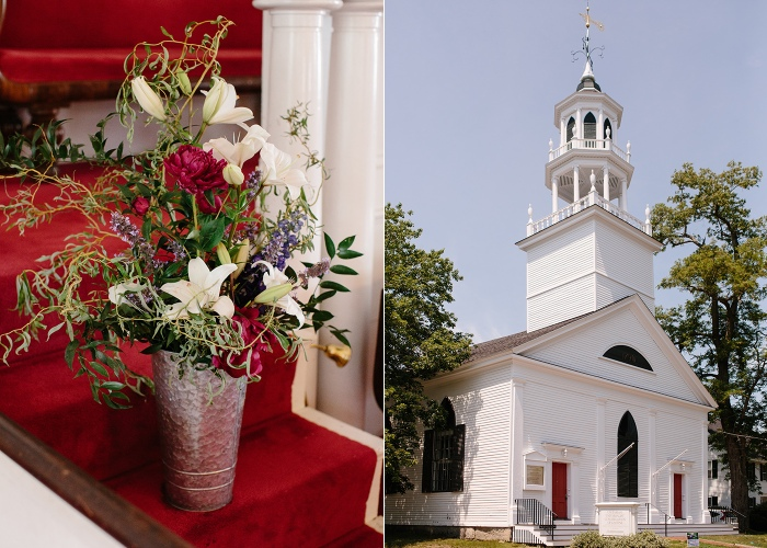 Castine Maine Universalist Church Wedding