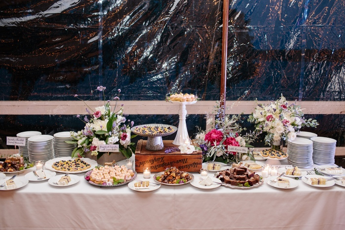 Trillium Wedding Dessert Bar Maine Caterers